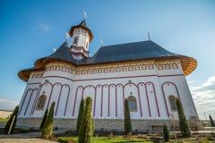 Monasterio el Moldavia Rumania Imagen de archivo libre de regalías