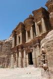 Monasterio en el Petra. Fotografía de archivo libre de regalías