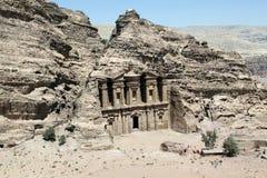 Monasterio en el Petra. Imágenes de archivo libres de regalías