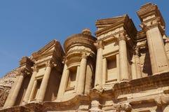 Monasterio en el Petra Imagenes de archivo