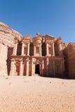 Monasterio en el Petra Imágenes de archivo libres de regalías