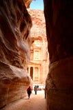 Monasterio en el Petra en Jordania Fotografía de archivo libre de regalías