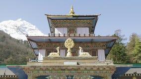 Monasterio en el pueblo Lho, Nepal almacen de video
