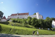 Monasterio en Fussen en Baviera, Alemania Imagen de archivo