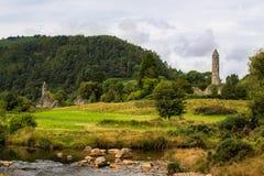 Monasterio en Glendalough, Wicklow, Irlanda Fotografía de archivo