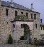 Monasterio en la montaña de Athos Fotografía de archivo