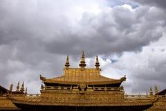 Monasterio en la región autónoma de Tíbet, China de Ganden Fotos de archivo