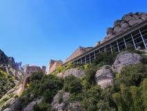 Monasterio en Montserrat, España Fotos de archivo libres de regalías