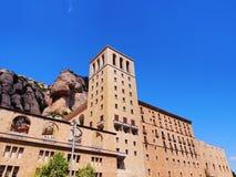 Monasterio en Montserrat, España Imágenes de archivo libres de regalías