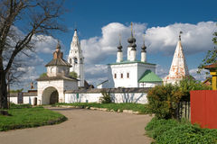 Monasterio en Suzdal, Rusia de Alexandrovsky Fotografía de archivo