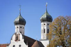 Monasterio famoso de Benediktbeuern, Alemania Foto de archivo libre de regalías