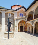 Monasterio famoso de Kykkos, Chipre Foto de archivo
