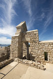 Monasterio fortificado Honorat del santo, Francia Imagen de archivo