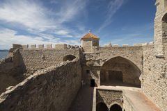 Monasterio fortificado Honorat del santo, Francia Fotos de archivo libres de regalías