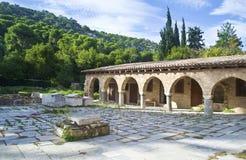 Monasterio Grecia de Daphni Foto de archivo