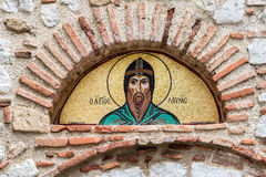 Monasterio Grecia de Hosios Loukas Imágenes de archivo libres de regalías