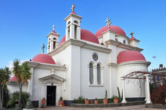 Monasterio griego de los doce apóstoles fotos de archivo libres de regalías