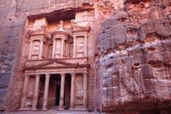 Monasterio imponente en el Petra Fotografía de archivo libre de regalías