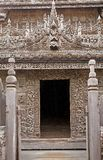 Monasterio Mandalay de Shwe Nandaw Kyaung Fotos de archivo