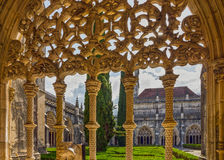 Monasterio medieval dominicano de Portugal Batalha, arte gótico Unes Imagenes de archivo
