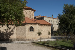 Monasterio mega de Spilaio en Kalavryta Fotografía de archivo libre de regalías