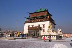 Monasterio Mongolia de Gandantegchinlen Fotografía de archivo libre de regalías