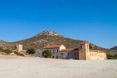 Monasterio Moni Gouvernetou de Gouverneto en la península de Akrotiri imagen de archivo
