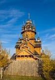 Monasterio ortodoxo de madera, Ucrania Imagen de archivo