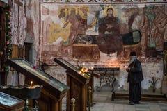 Monasterio ortodoxo georgiano Gelati adentro Fotografía de archivo