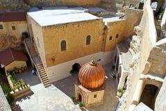 Monasterio ortodoxo griego de marcha Saba (St. Sabas) i Imagen de archivo libre de regalías