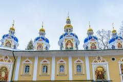 Monasterio ortodoxo ruso Foto de archivo libre de regalías