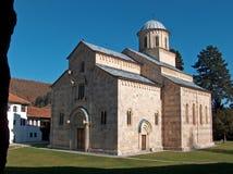 Monasterio ortodoxo servio Visoki Decani Patrimonio mundial de la UNESCO fotografía de archivo