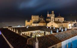 Monasterio real de Santa Maria de Guadalupe, provincia de Caceres, Extremadura, España imagen de archivo libre de regalías