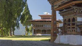 monasterio Reino de Bhután Imagen de archivo libre de regalías