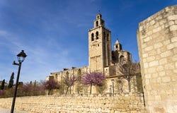 Monasterio Románico de Sant Cugat Fotografía de archivo libre de regalías