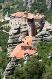Monasterio Roussanou en Meteora Imágenes de archivo libres de regalías