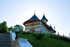 Monasterio rumano antiguo ortodoxo aislado Foto de archivo