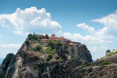 Monasterio santo de gran Meteoron Imagen de archivo libre de regalías