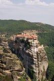 Monasterio visto del Meteora grande Imagenes de archivo