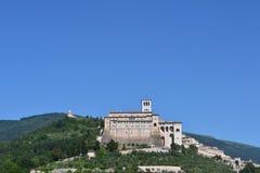Monasterio y basílica de San Francisco en Assisi Imágenes de archivo libres de regalías