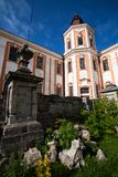 Monasterio y seminario anteriores, Kremenets, Ucrania de la jesuita Imágenes de archivo libres de regalías