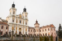 Monasterio y seminario anteriores, Kremenets, Ucrania de la jesuita Imagen de archivo