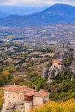 Monasterios en Meteora, Grecia imágenes de archivo libres de regalías