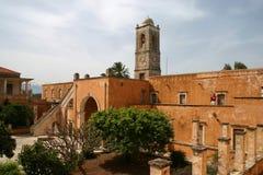 Monastero Agia Triada, Crete fotografia stock libera da diritti