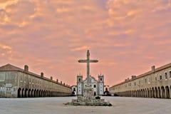 Monastero al tramonto Immagini Stock Libere da Diritti