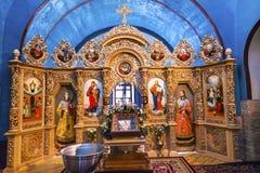 Monastero antico Kiev Ucraina di Vydubytsky della chiesa di Mikhaylovsky della basilica Fotografia Stock