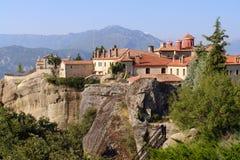 Monastero antico in montagne Fotografia Stock