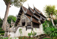 Monastero buddista Immagine Stock