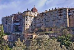 Monastero bulgaro di Zograf al Mt Athos Fotografia Stock Libera da Diritti