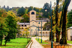 Monastero in Cetinje, Montenegro fotografia stock